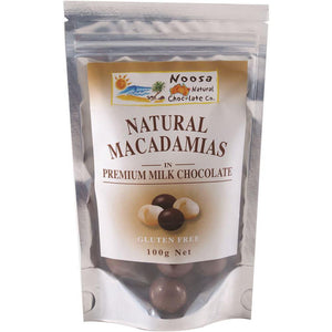 Noosa Natural Macadamias Milk Chocolate 100g