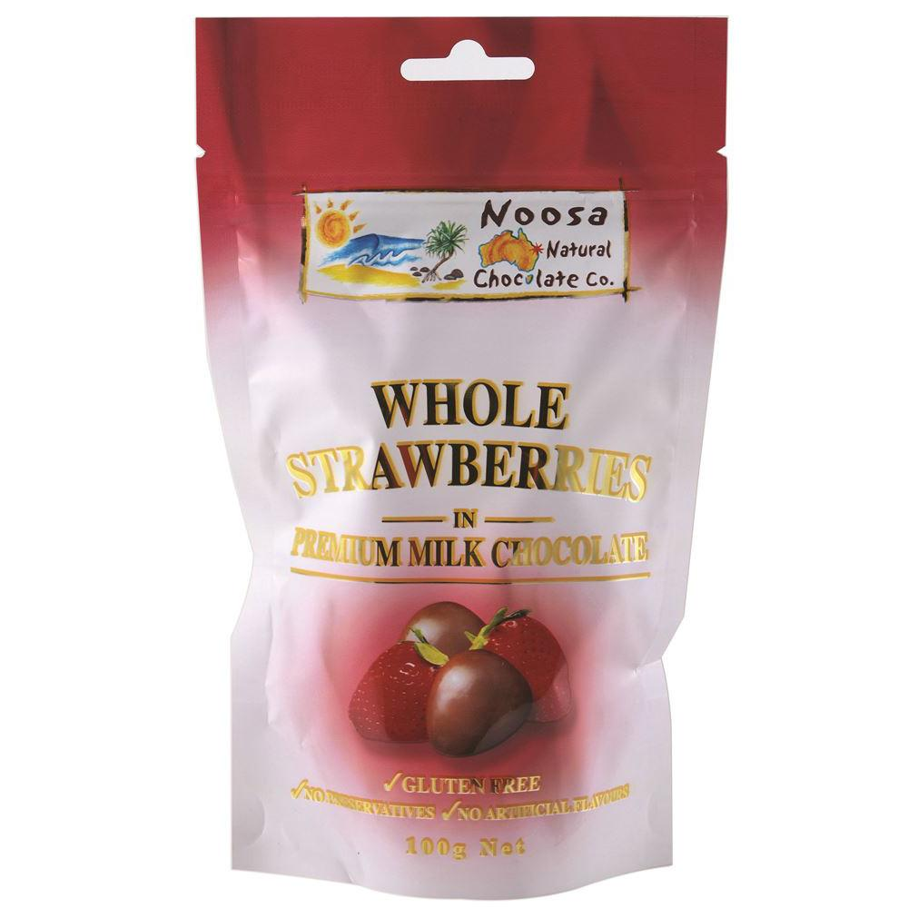 Noosa Natural Strawberries Milk Chocolate 100g