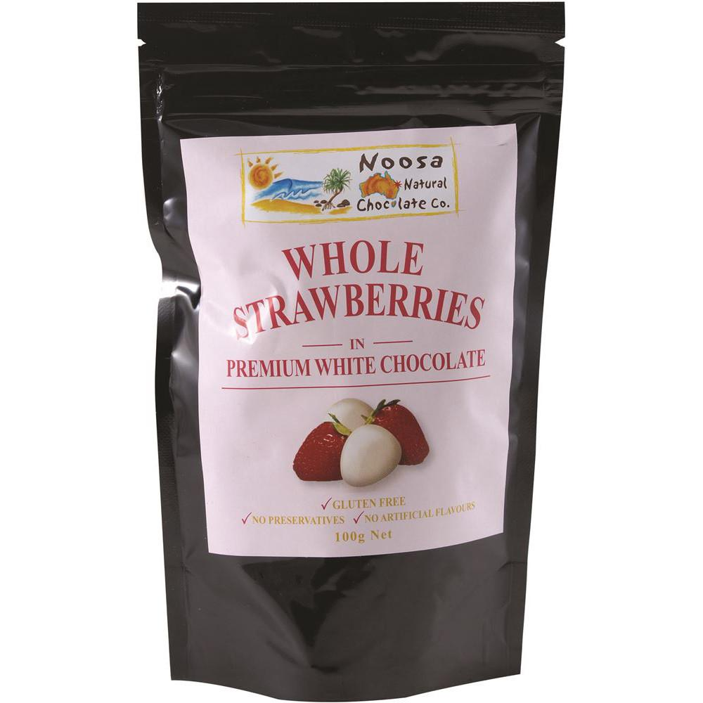 Noosa Natural Strawberries White Chocolate 100g