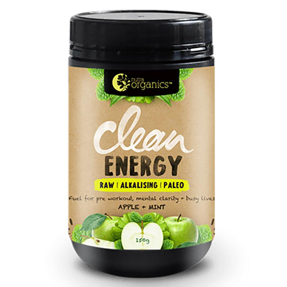 Nutra Organics Clean Energy Apple Plus Mint 150g