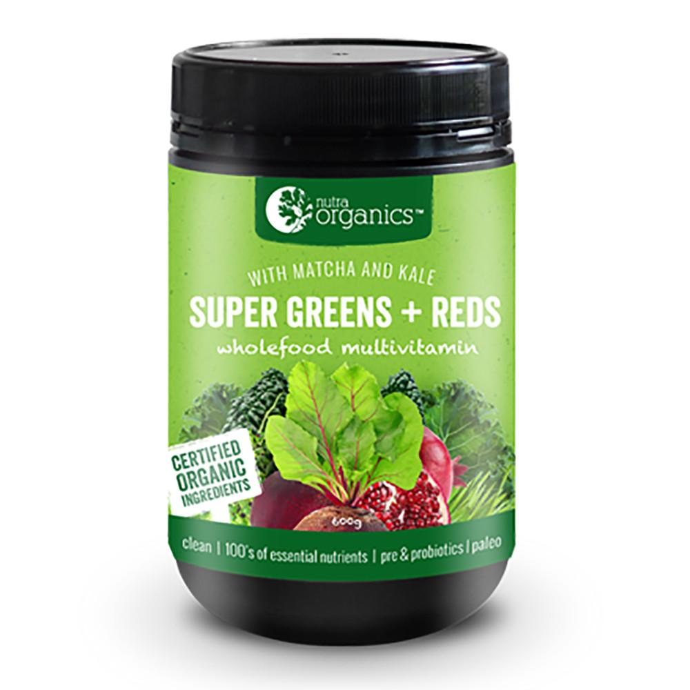 Nutra Organics Super Greens and Reds 300g