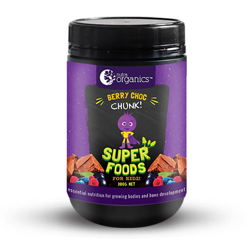 Nutra Organics Superfood for Kidz Berry Choc Chunk 300g