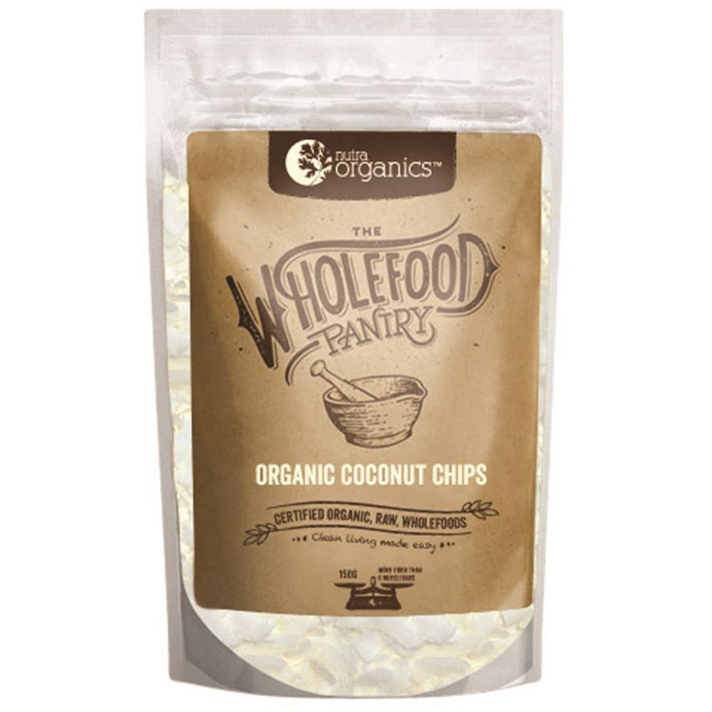 Nutra Organics The Wholefood Pantry Coconut Chips 150g