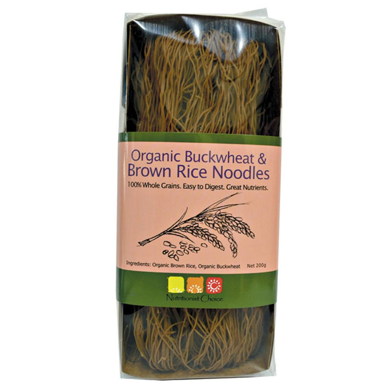 Nutritionist Choice Rice Noodles 200g Buckwheat & Brown