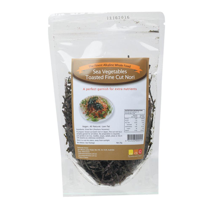 Nutritionist Choice Sea Vegetables 25g Toasted Fine Cut Nori