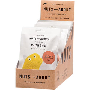 Nuts About Cashews Garlic & Rosemary 12 x 50g