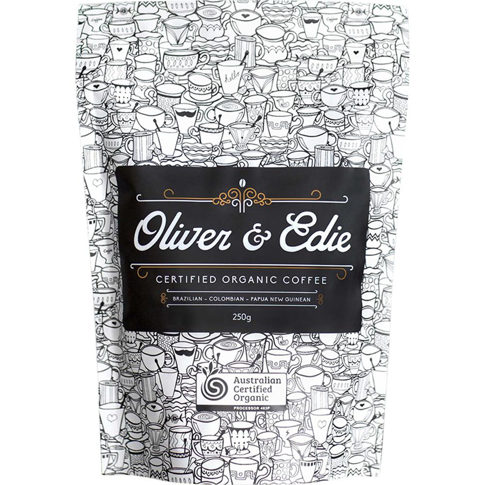 Oliver & Edie Coffee Beans Certified Organic 250g