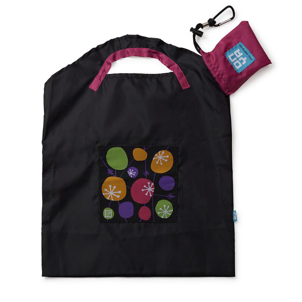 Onya Reusable Shopping Bags Black Retro Small