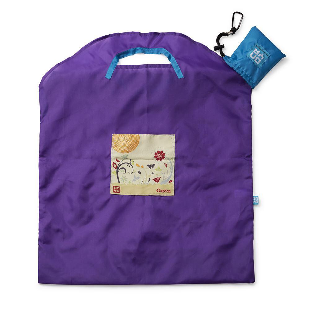 Onya Reusable Shopping Bags Purple Garden Large