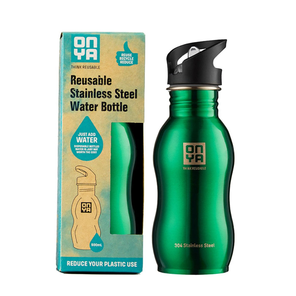 Onya Stainless Steel Bottle Green 500ml