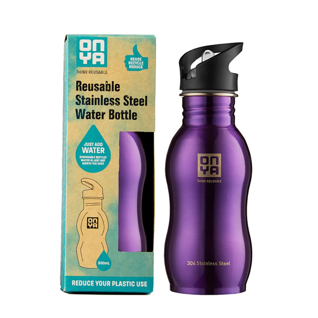 Onya Stainless Steel Bottle Purple 500ml
