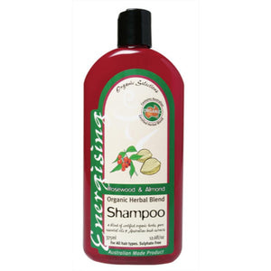 Organic Selections Shampoo 375ml Rosewood & Almond