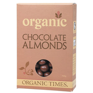 Organic Times Chocolate Almonds 150g Milk Chocolate