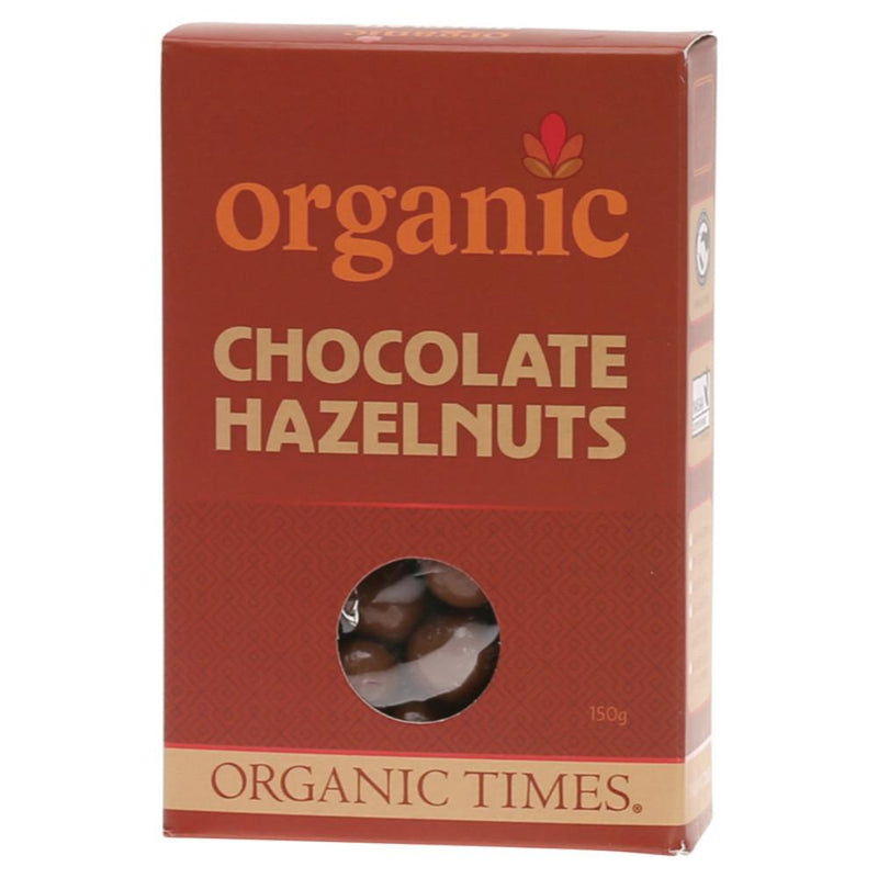 Organic Times Chocolate Hazelnuts 150g Milk Chocolate