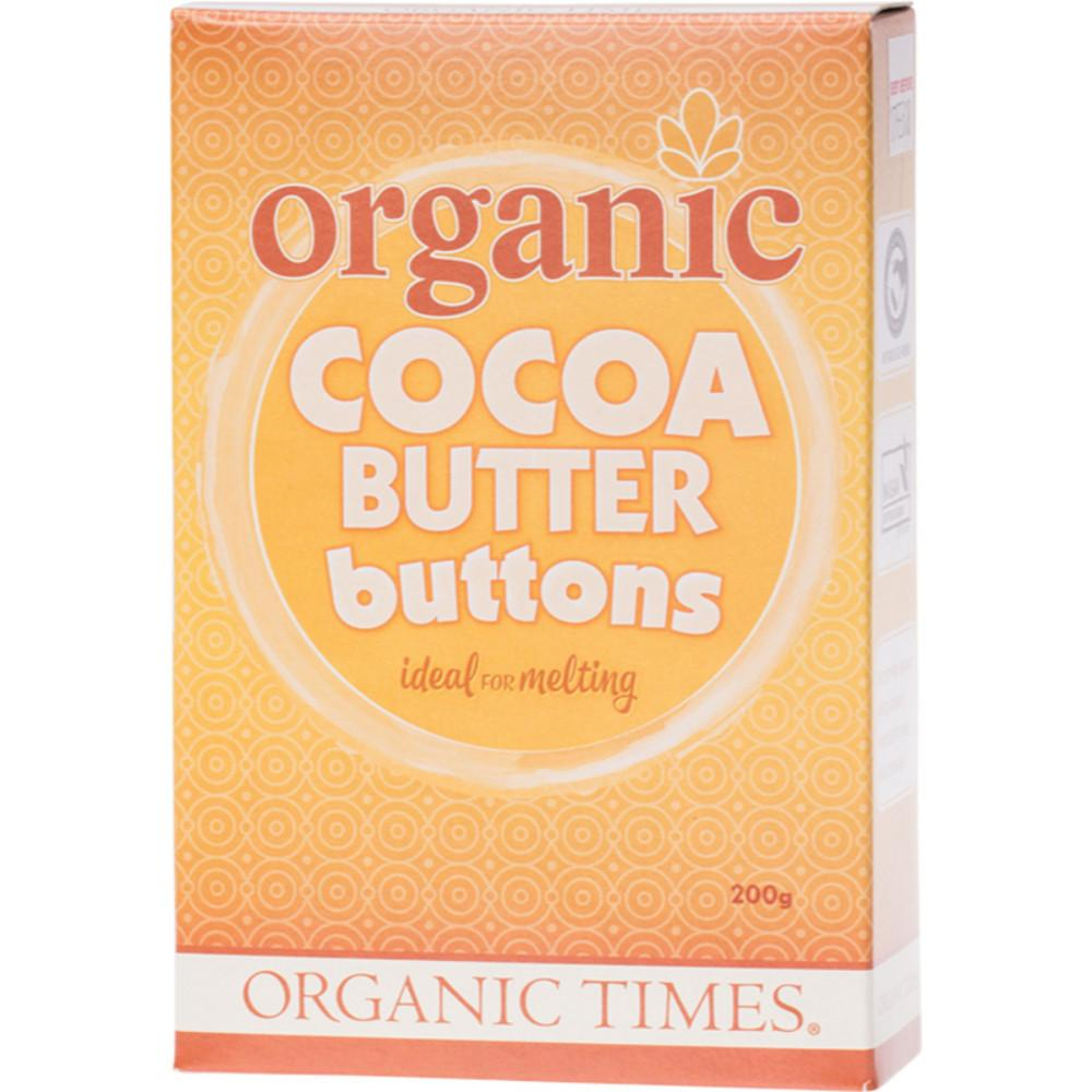 Organic Times Cocoa Butter 200g Buttons