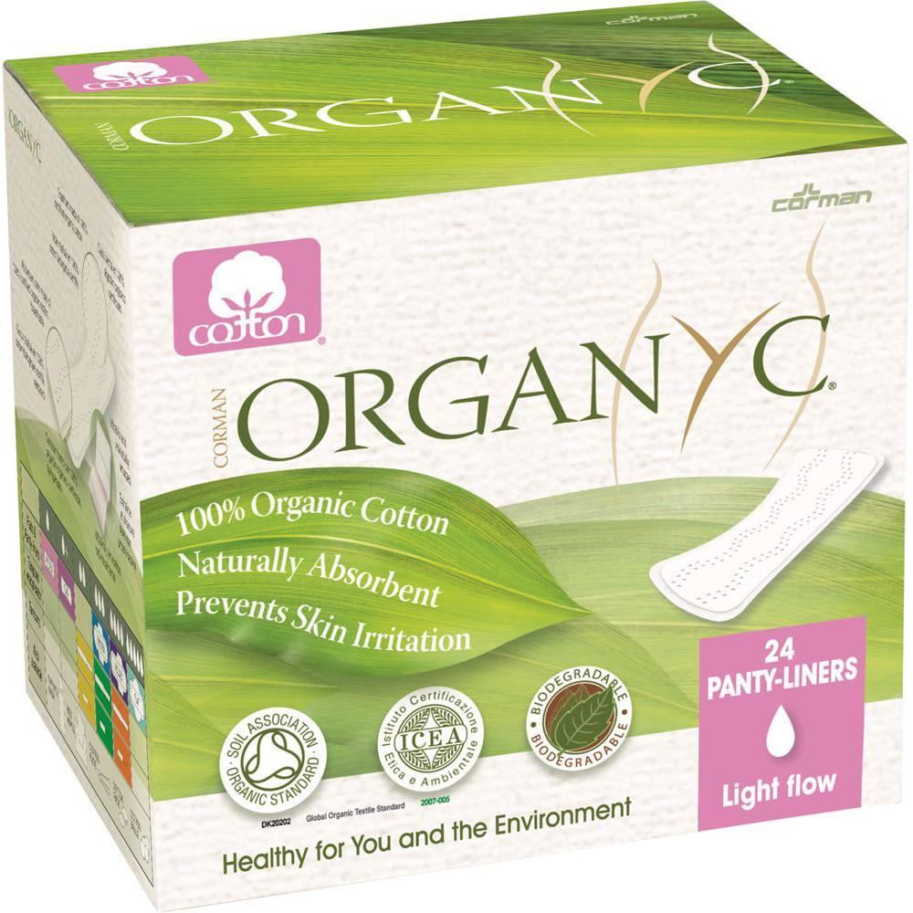 Organyc Ultra Thin Panty Liners-Light x 24 Pack