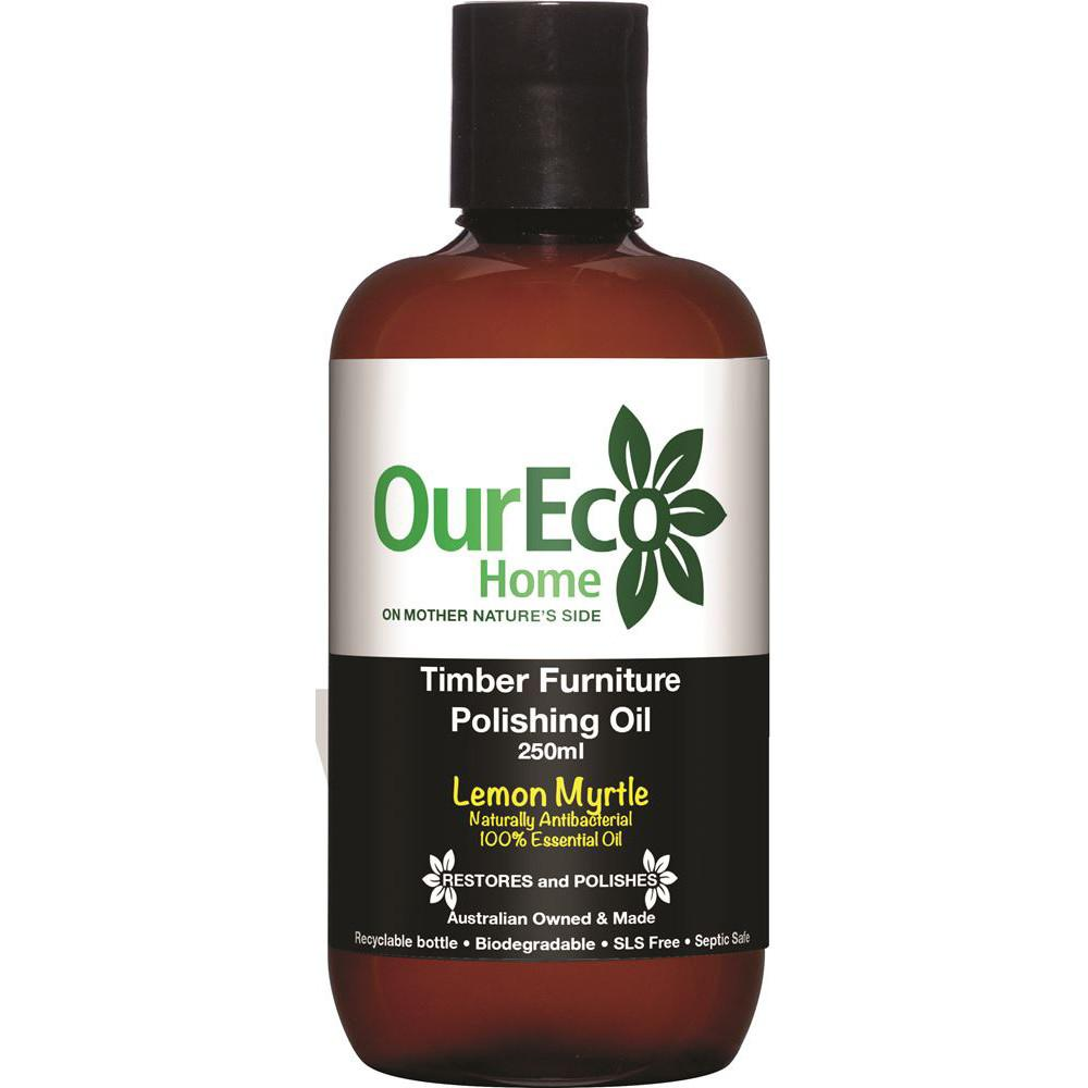 OurEco Home Timber Furniture Polish Lemon Myrtle 250ml