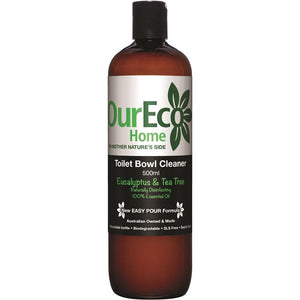OurEco Home Toilet Bowl Cleaner Eucalyptus and Tea Tree 500ml