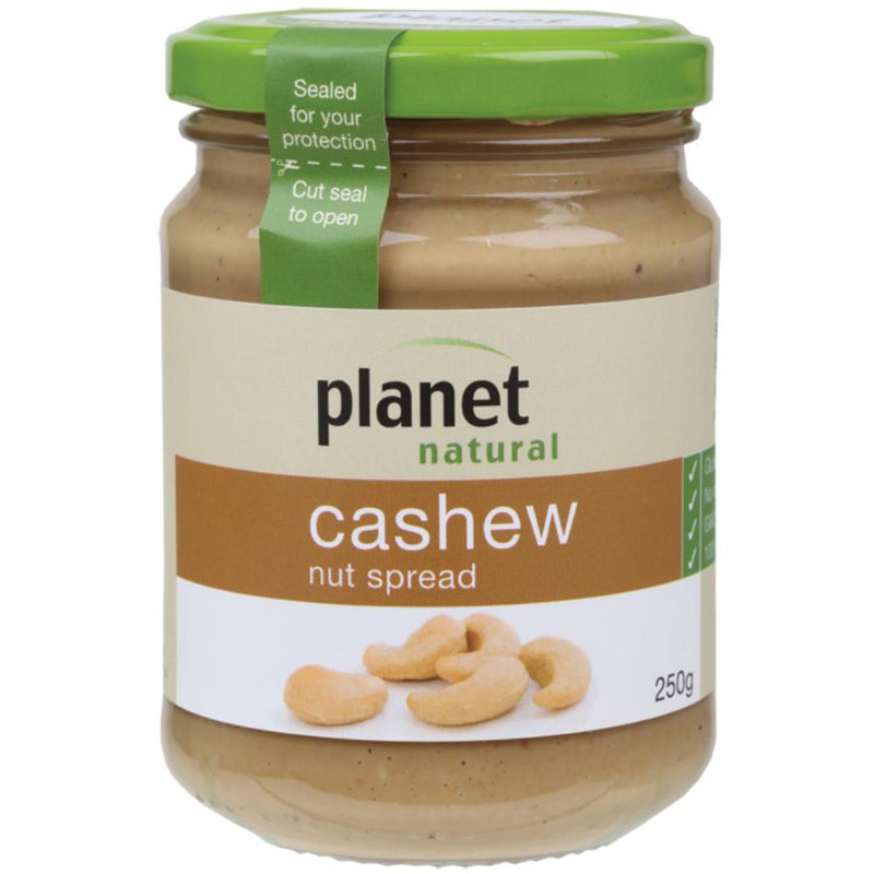 Planet Natural Nut Spread 250g Cashew