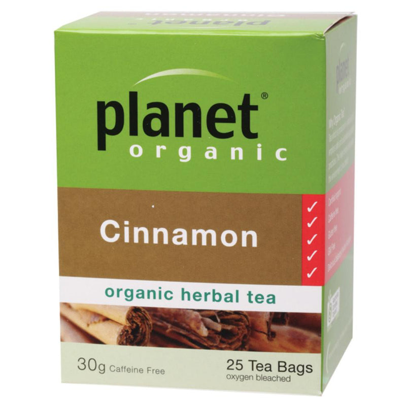 Planet Organic Herbal Tea Bags 25 Cinnamon