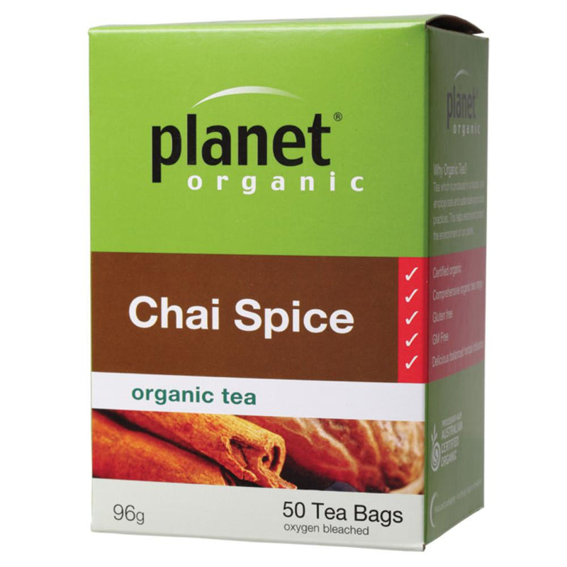 Planet Organic Herbal Tea Bags 50 Chai Spice