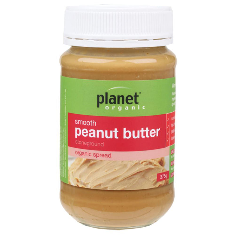 Planet Organic Peanut Butter 375g Smooth