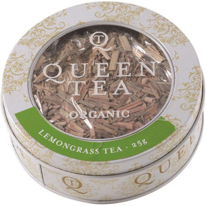 Queen Tea Organic Lemongrass Tea Tin 25g
