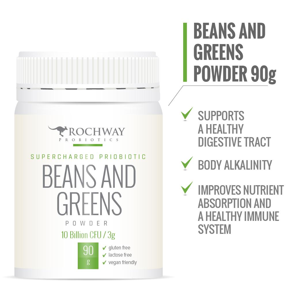 Rochway Beans & Greens Supercharged Probiotic 10 Billion CFU/3g 90g