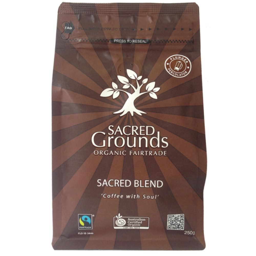 Sacred Grounds Coffee Ground (Plunger) 250g Sacred Blend