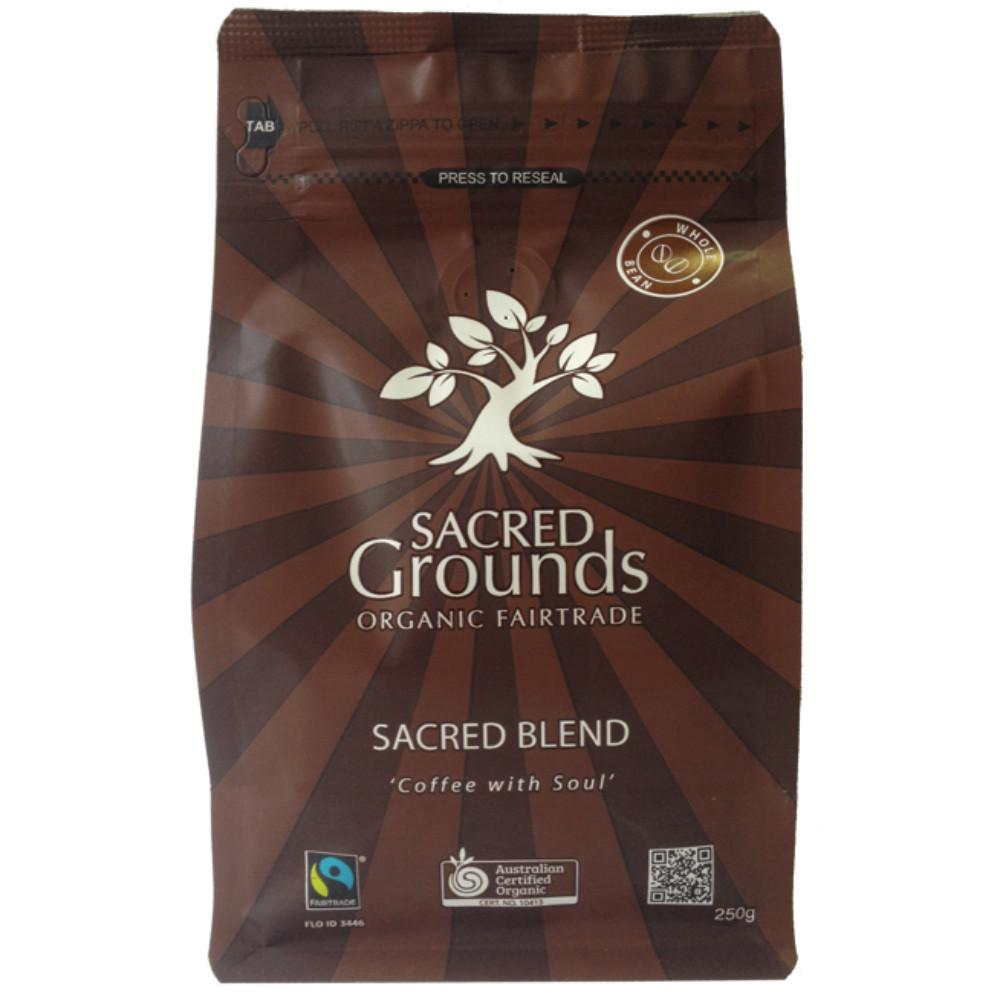 Sacred Grounds Whole Coffee Beans 250g Sacred Blend