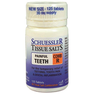 Schuessler Tissue Salts Comb R Painful Teeth 125t
