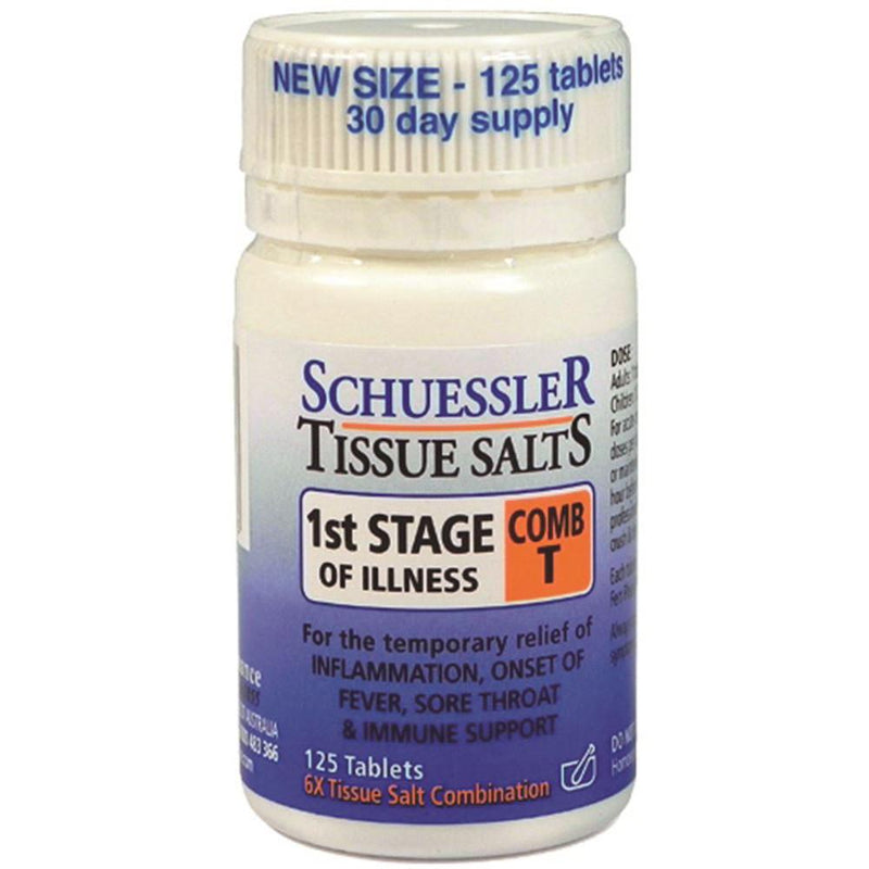 Schuessler Tissue Salts Comb T 1st Stage of Illness 125t