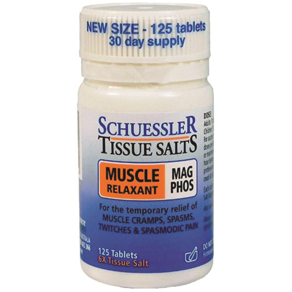 Schuessler Tissue Salts Mag Phos Muscle Relaxant 125t