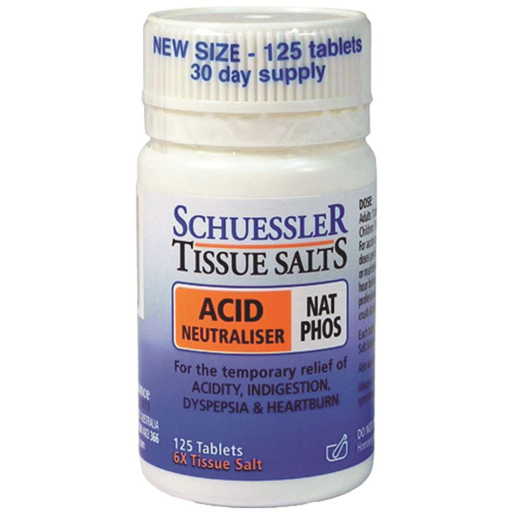 Schuessler Tissue Salts Nat Phos Acid Neutraliser 125t
