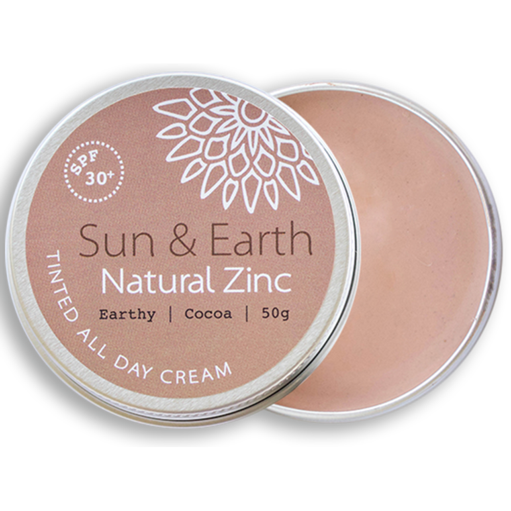 Sun & Earth Natural Zinc Tinted All Day Cream SPF 30+ 50g