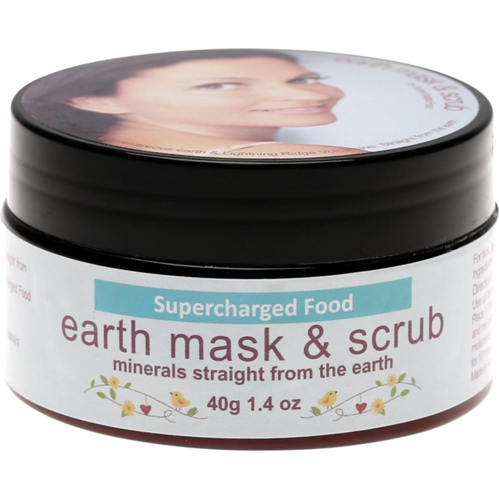 Supercharged Food Earth Mask & Scrub 40g Diatomaceous Earth Volcamin