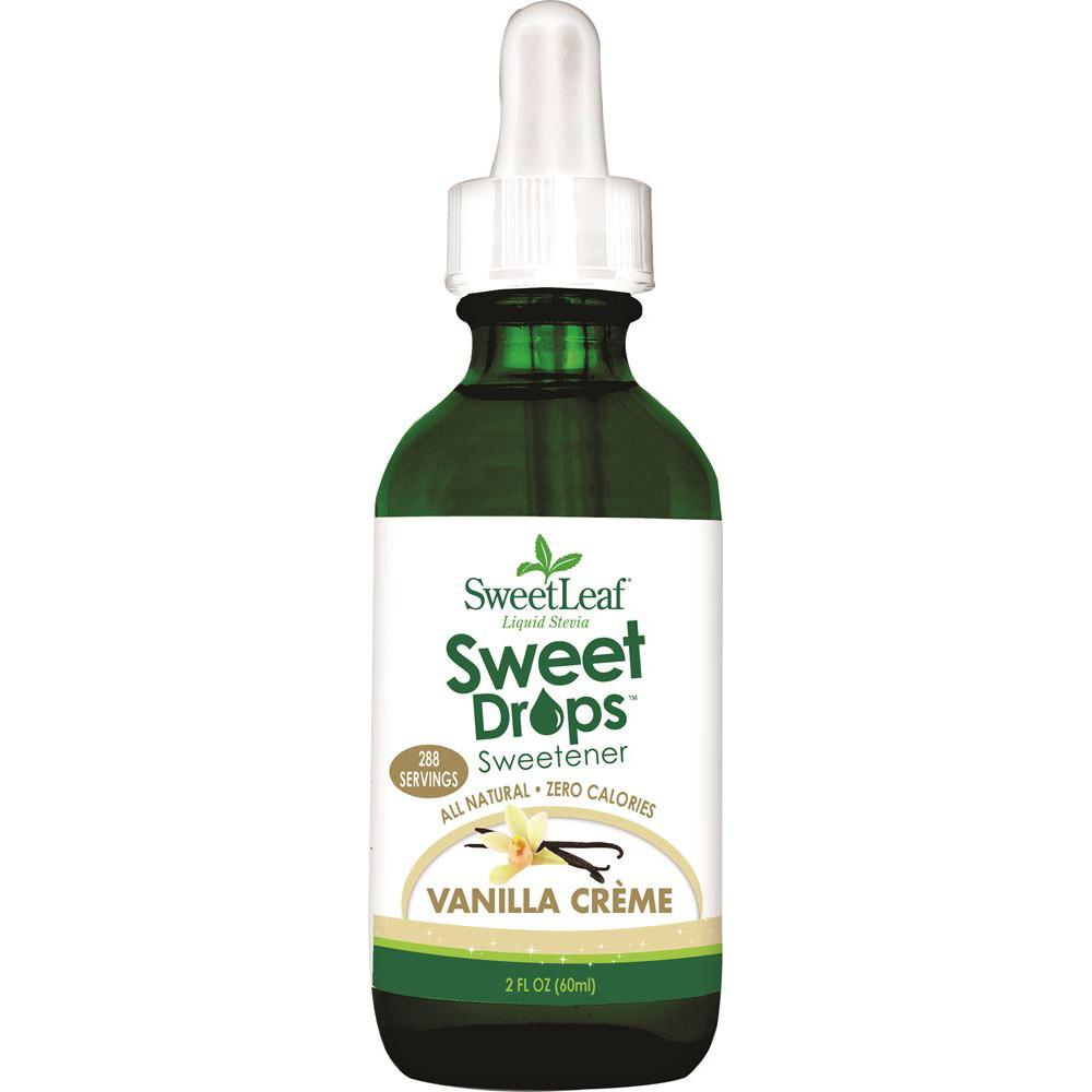 Sweet Leaf Sweet Drops Stevia Liquid Vanilla Creme 60ml