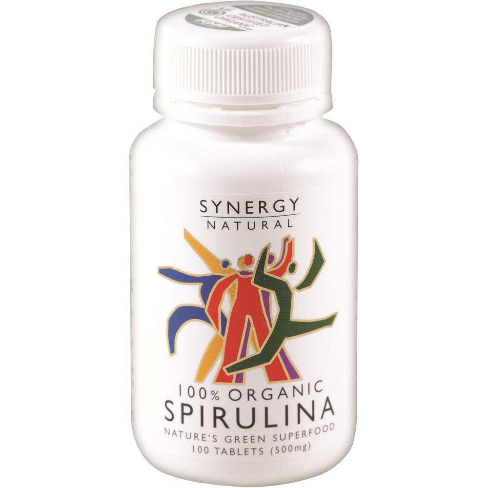 Synergy Natural Organic Spirulina 500mg 100t