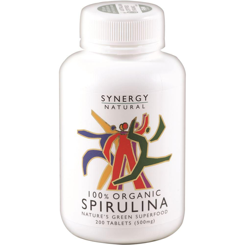 Synergy Natural Organic Spirulina 500mg 200t