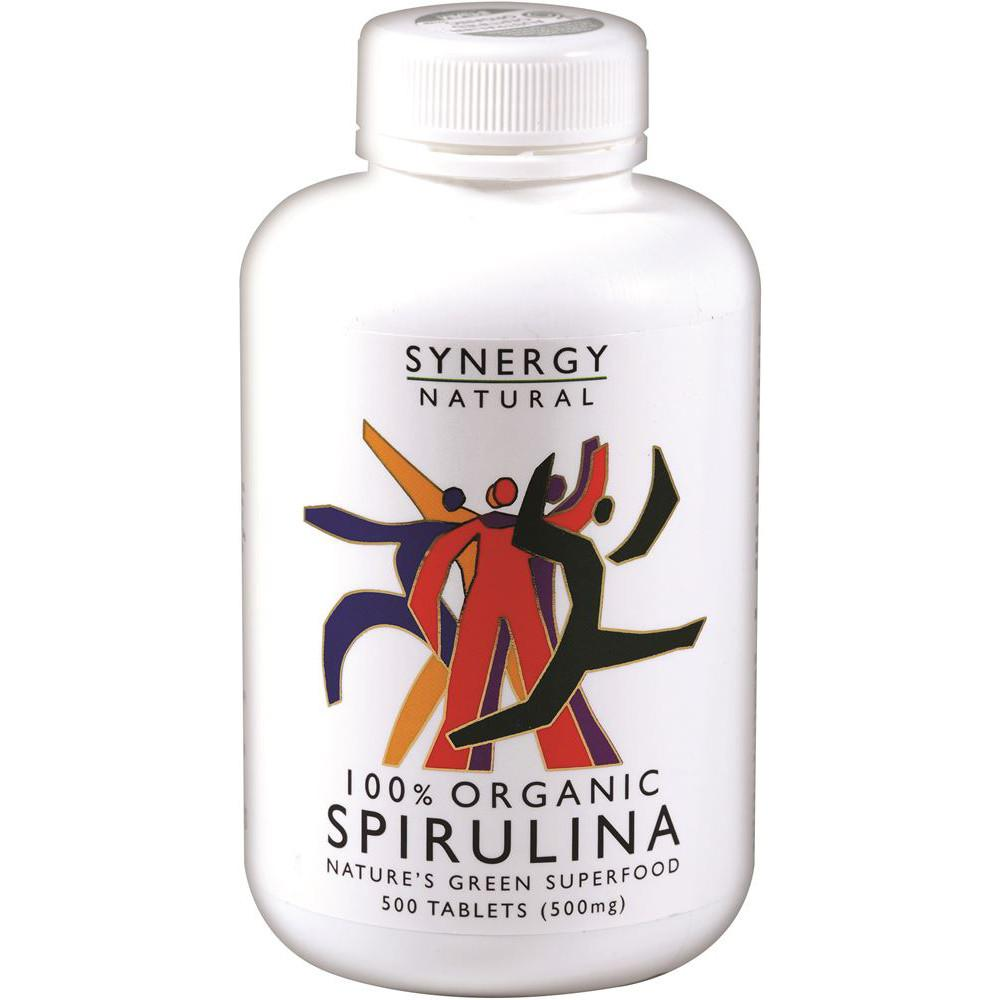 Synergy Natural Organic Spirulina 500mg 500t