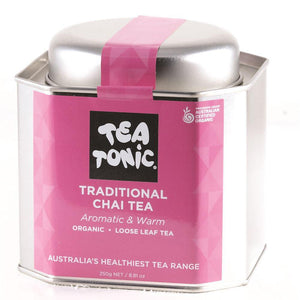 Tea Tonic Organic Traditional Chai Tea Tin 250g