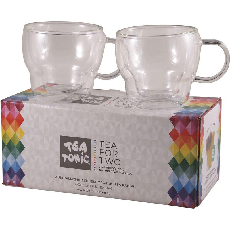 Tea Tonic Tea for Two Thermal Glass Tea Cup x 2 Cups
