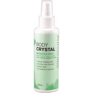 The Body Crystal Body Spray Deodorant Botanica Mist 150ml