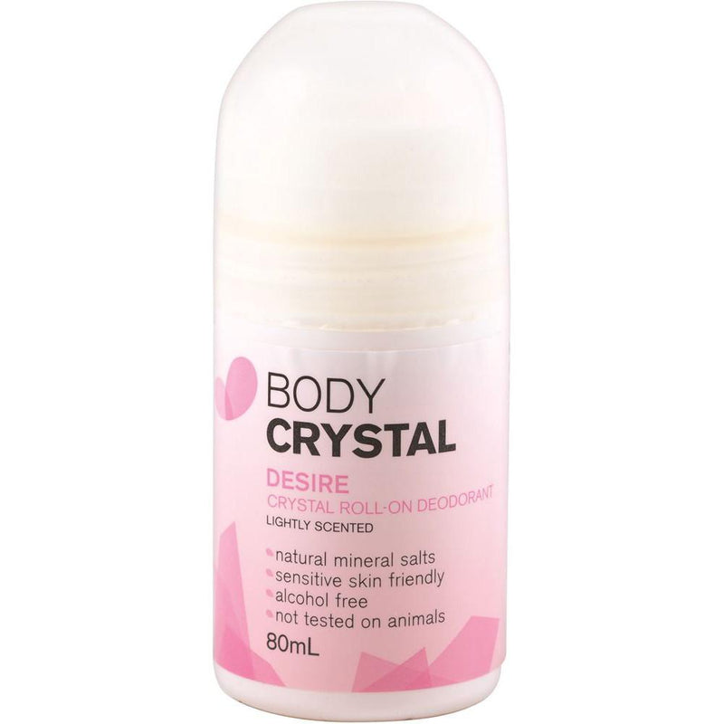 The Body Crystal Crystal Roll On Deodorant Desire 80ml