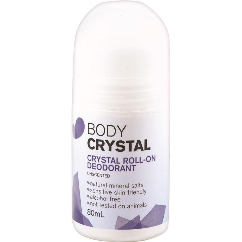 The Body Crystal Crystal Roll On Deodorant Fragrance Free 80ml