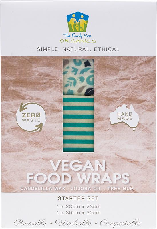 The Family Hub Organics Vegan Food Wraps Starter Set 1 x Medium & Large 2