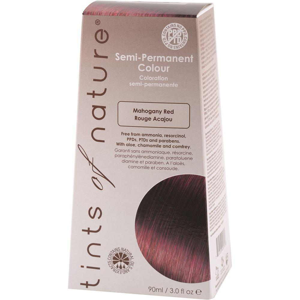 Tints of Nature Semi-Permanent Hair Colour Mahogany Red