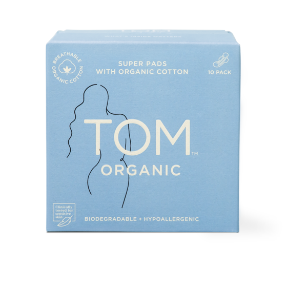 Tom Organic Pads 10 Super Ultra Thin Pads
