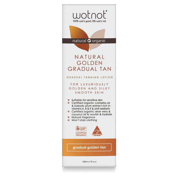 Wotnot Natural Golden Gradual Tan Lotion 200ml