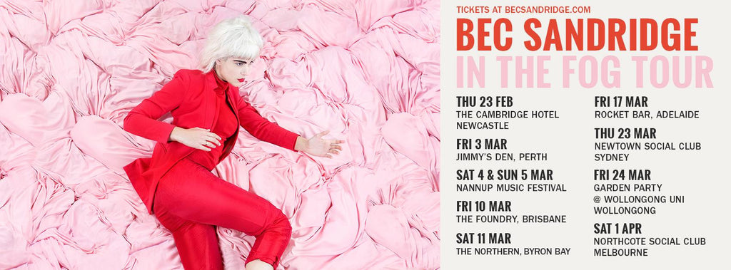 Bec Sandridge announces 'In The Fog' ep tour